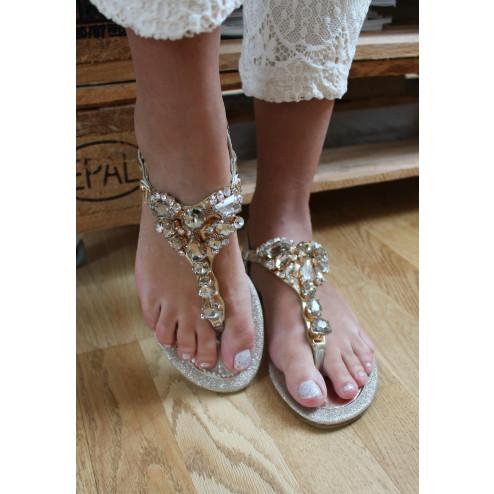 Majken sandal guld - h8-98