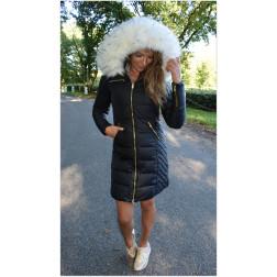Ciara sort med hvid faux fur