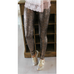 Golden snake leggings