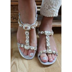 Kecia sandal sølv